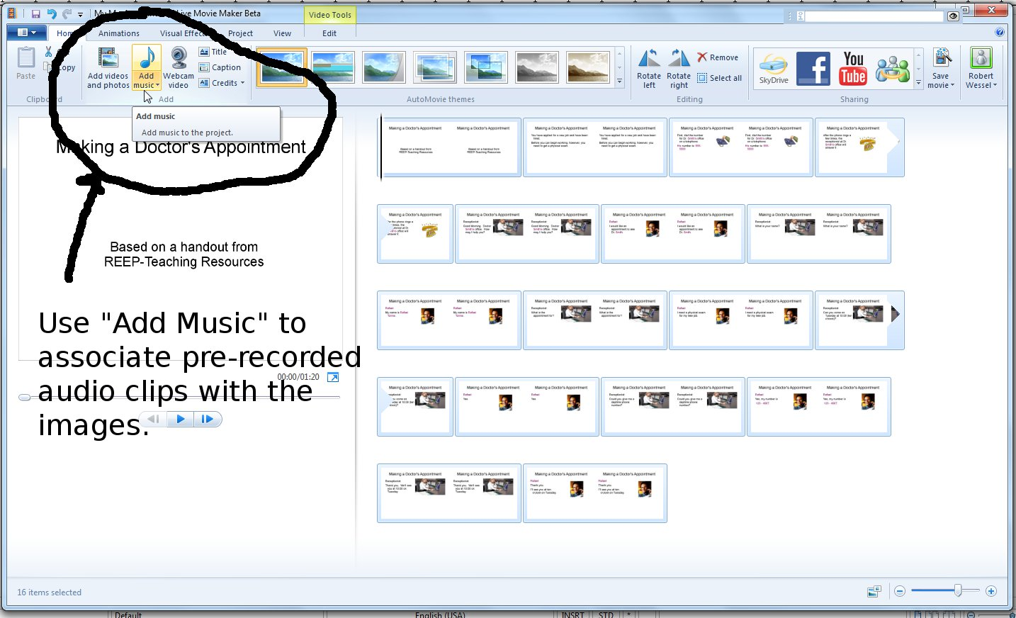 how to add music to openoffice presentation
