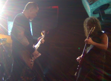 James and Kirk from Metallica