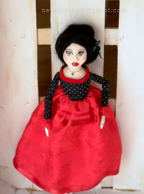 Moje cloth & clay doll