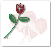 Heart Rose Tag ecg