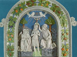 A Della Robbia Baptism of Christ