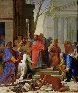 Paul Preaching in Ephesus Eustache Le Sueur