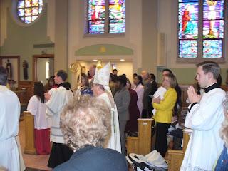 Bishop during Processional