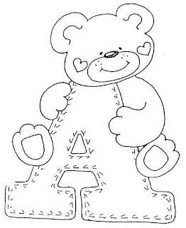 V Alphabet Images With Love Alfabeto de ositos para colorear. | Oh my Alfabetos!