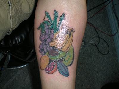 Fruit tattoos are very unique, original and fun designs to get.