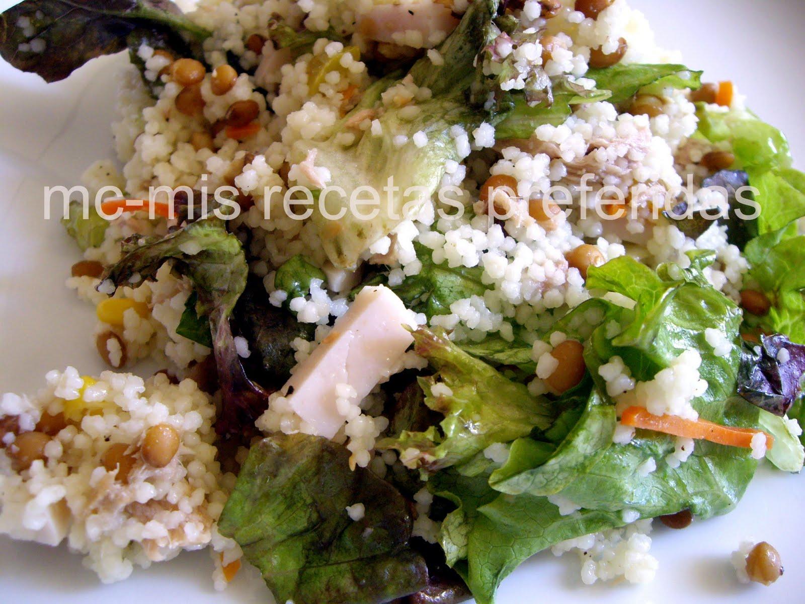 www.delicietas.es: Ensalada de cuscús y lentejas