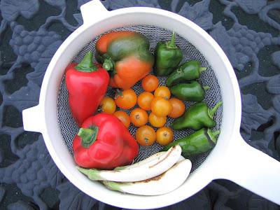 Rooftop Garden Vegetable Harvest