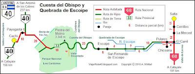 mapa Cuesta del Obispo
