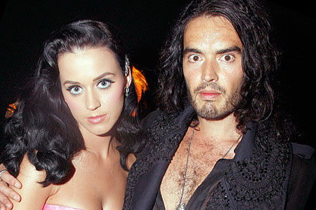 Katy Perry and Russell brand will entertain their celebrity friends at a