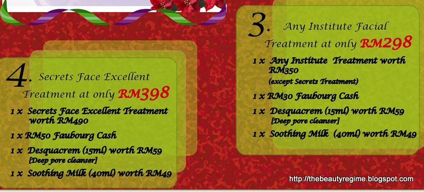 The beauty regime malaysia members only christmas promo for 128 faubourg salon by sothys
