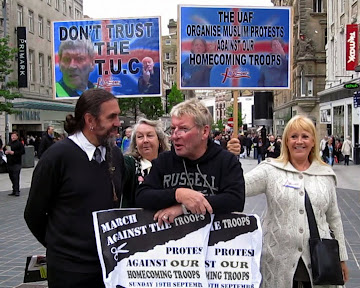 BRITISH HATING UAF COMMUNIST McFADDEN MEETS LIVERPOOL BNP