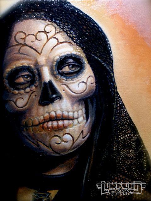 day of dead skull tattoo designs. Day Dead Skull Tattoos