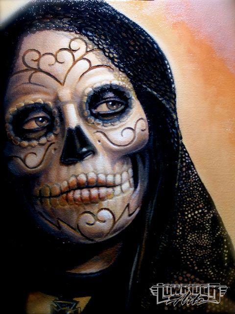day of dead skull. Day Dead Skull Tattoos