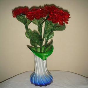 Bunga Mawar indah dari manik - manik akrilik