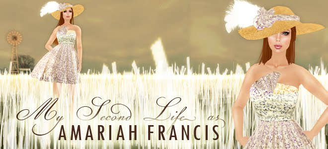 My Second Life as Amariah Francis