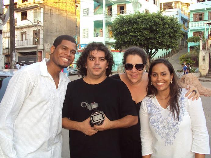 Alunos da CAP gravando Toques da Bahia