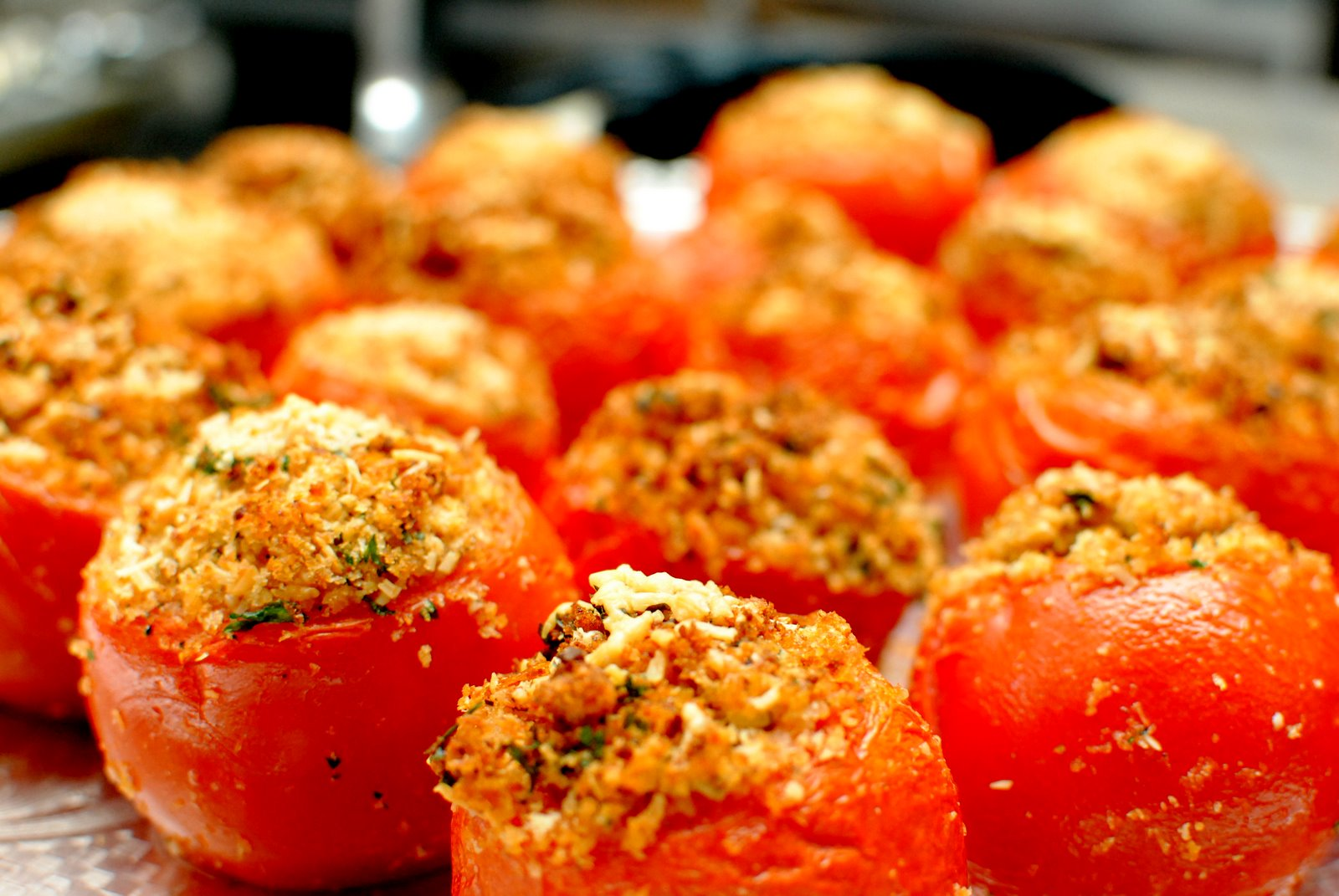 Provenal Tomatoes (Baked Tomatoes Stuffed With Cheese And Breadcrumbs ...