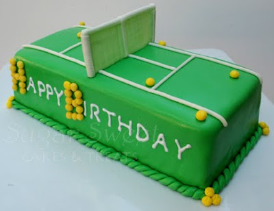 Tennis Court Cake Sugar Sweet Cakes And Treats