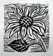 Sunflower Linocut Print
