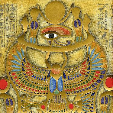 Tutankhamons smykke med en skarabæ