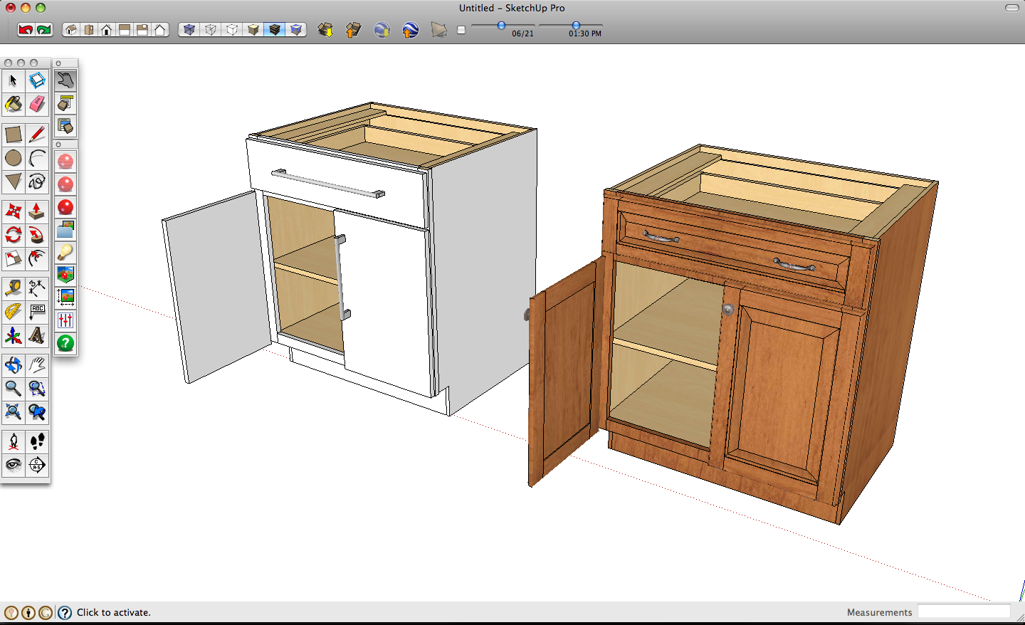 Google SketchUp Kitchen Cabinets