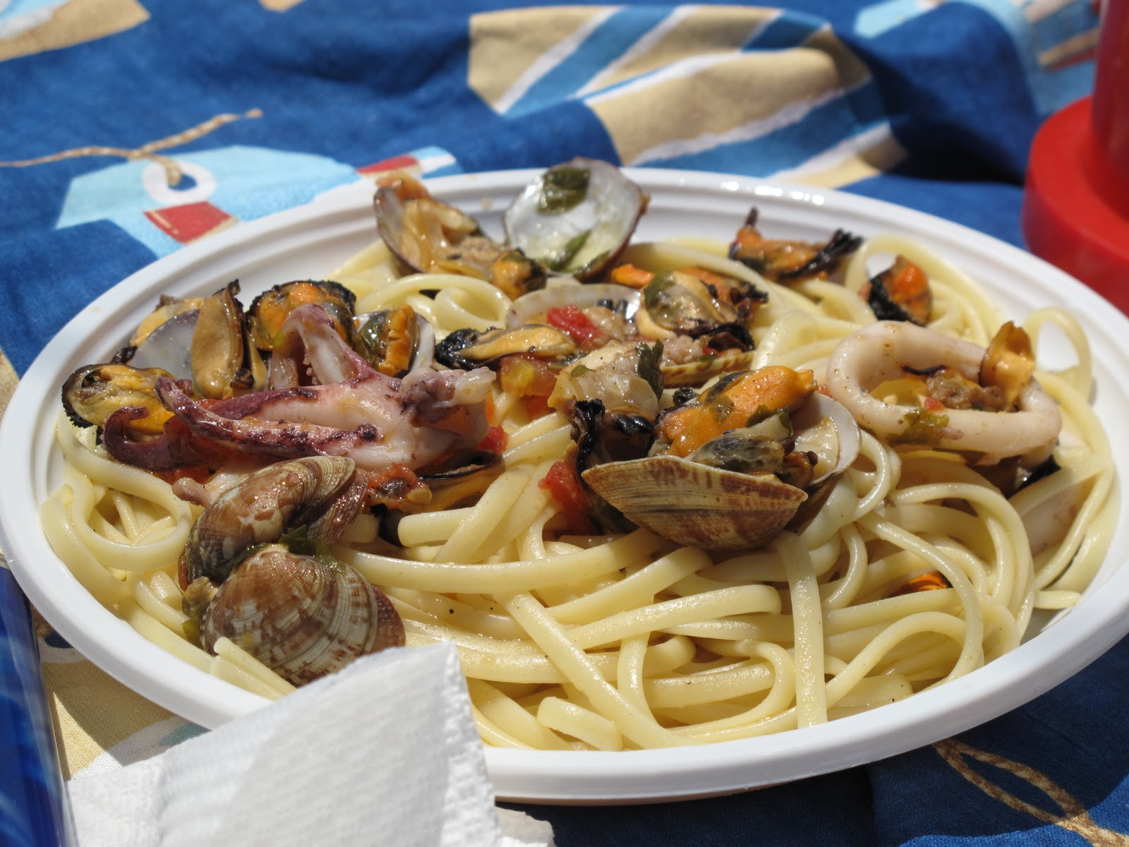 SEAFOOD PASTA ON OUR DAY SAIL