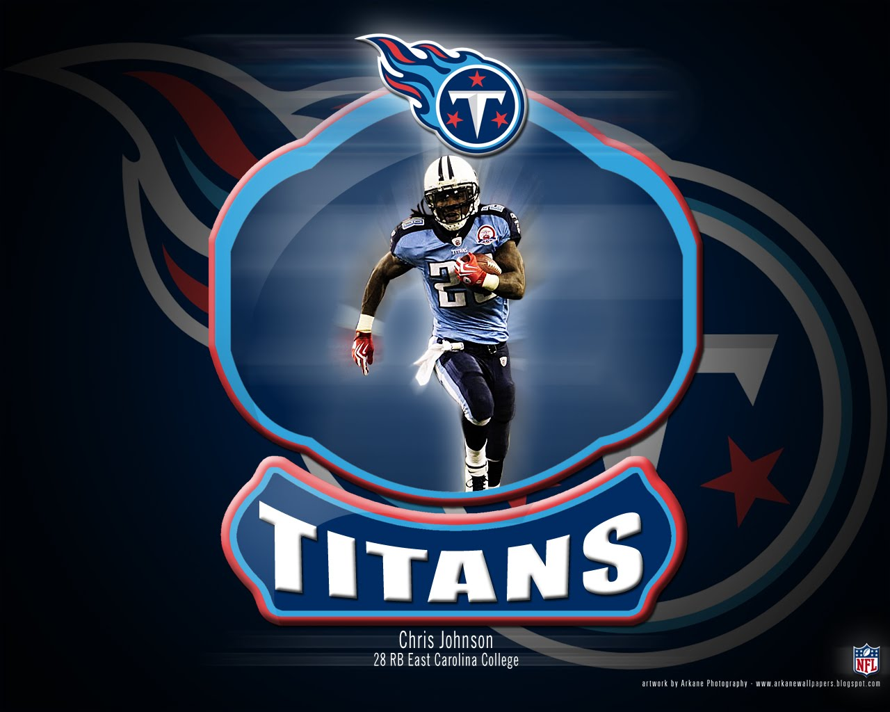Arkane Nfl Wallpapers Chris Johnson Tennessee Titans