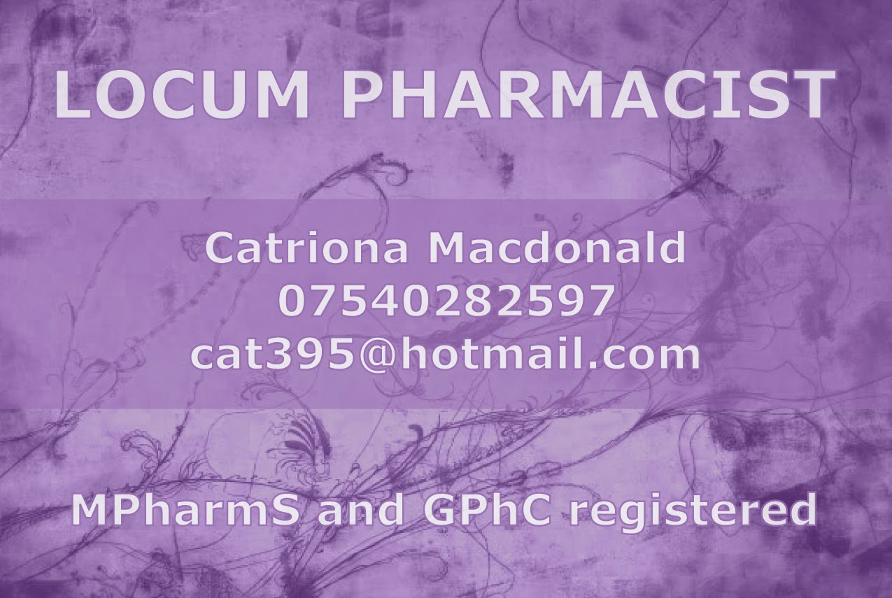 Andrew Kelly Art & Photography: Locum Pharmacist Business Card