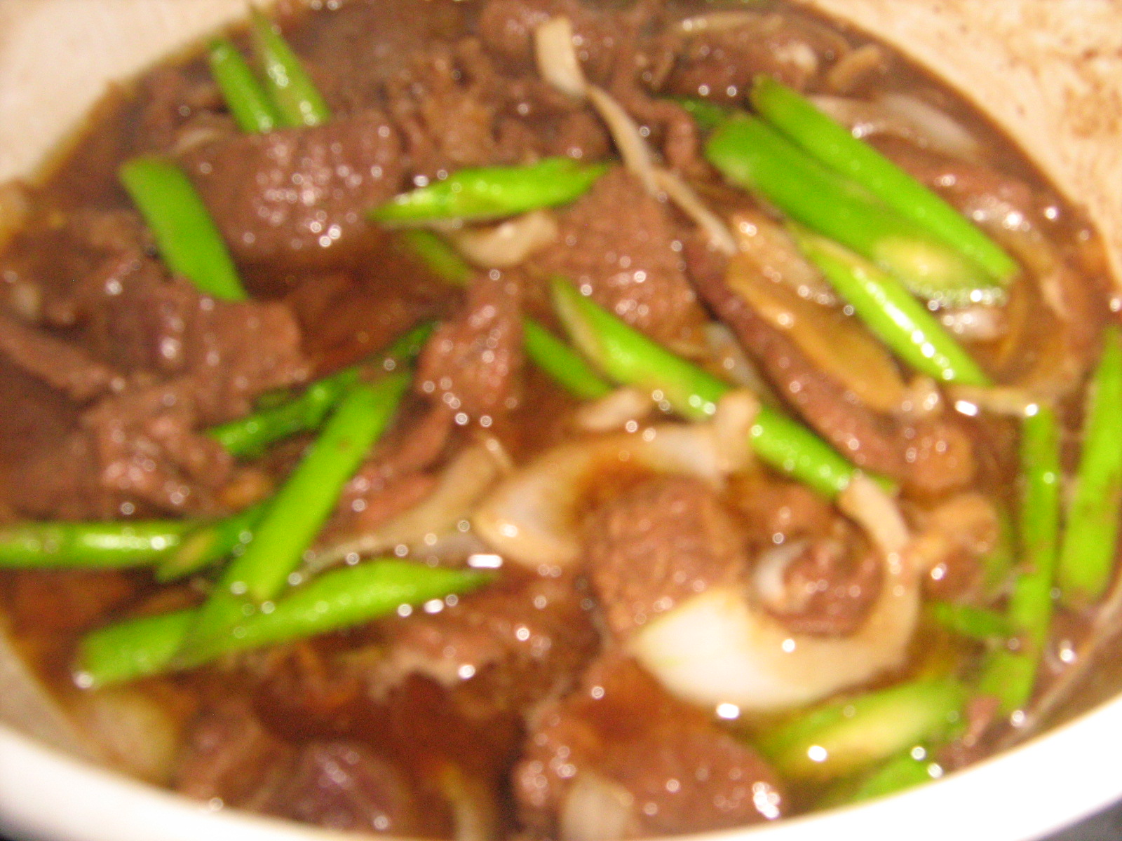BEEF and ASPARAGUS in OYSTER SAUCE