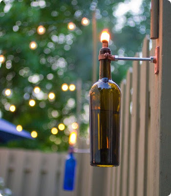 Craft Ideas Sell on Recycled Wine Bottle Torch   I Couldn T Resist Sharing This Diy