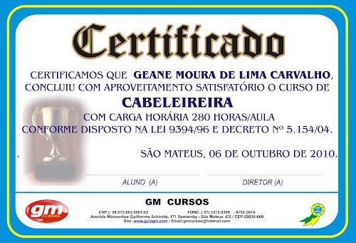 Borda para certificado do curso de cabeleireiro em branco - Imagui