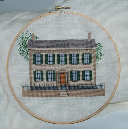 abraham lincoln home cross stitch