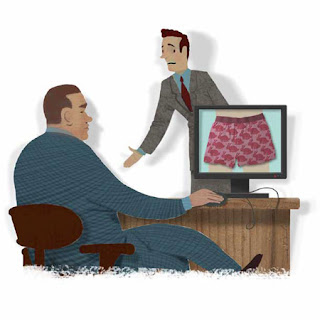 Dave Wheeler illustrates Boss Looking at your Online Profile
