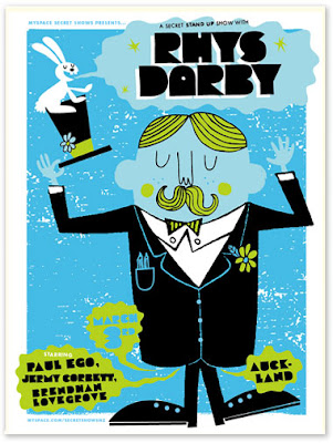 Tad Carpenter,Rhys Darby Comedy Show, Posters,Graphic,