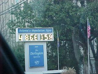 Population of Atlanta sign