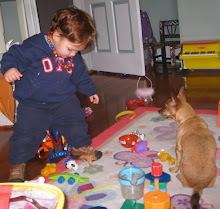 Maxwell in his playroom