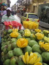 Fruit vendor on streets