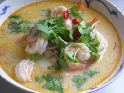 Bohemian Transplant: Thai Coconut and Shrimp Soup*