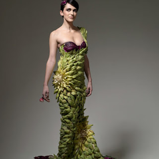 Lady Gaga wear lettuce dress