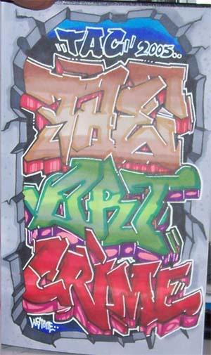 tac graffiti,graffiti alphabet
