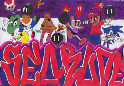 graffiti kids,cartoon graffiti