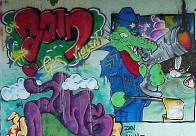 graffiti characters,crocodile graffiti