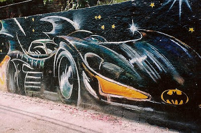batman graffiti murals