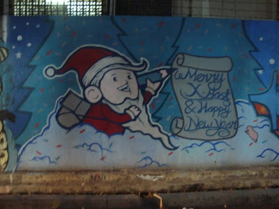 santa graffiti,cool graffiti christmas,graffiti murals,graffiti alphabet