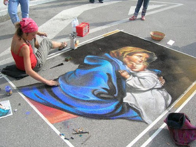 Madonnari art by Stefano Italy