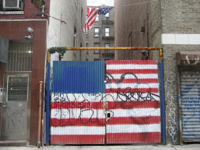 US flag graffiti NYC