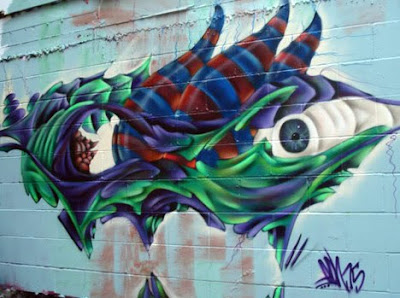 eye graffiti ,art murals