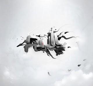 silver graffiti 3d
