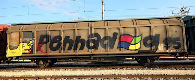 train graffiti, pdog graffiti