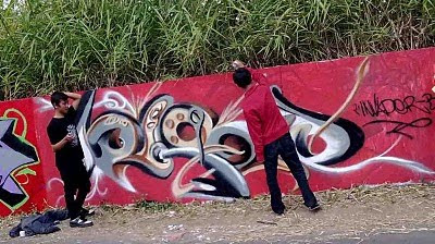 graffiti artist, tribal graffiti